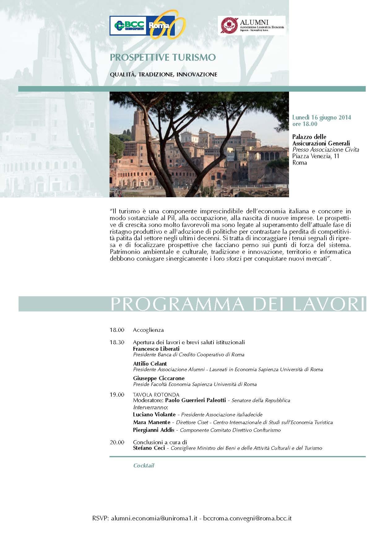 """Caminetto """"Prospettive turismo: qualità, tradizione, innovazione""""."""