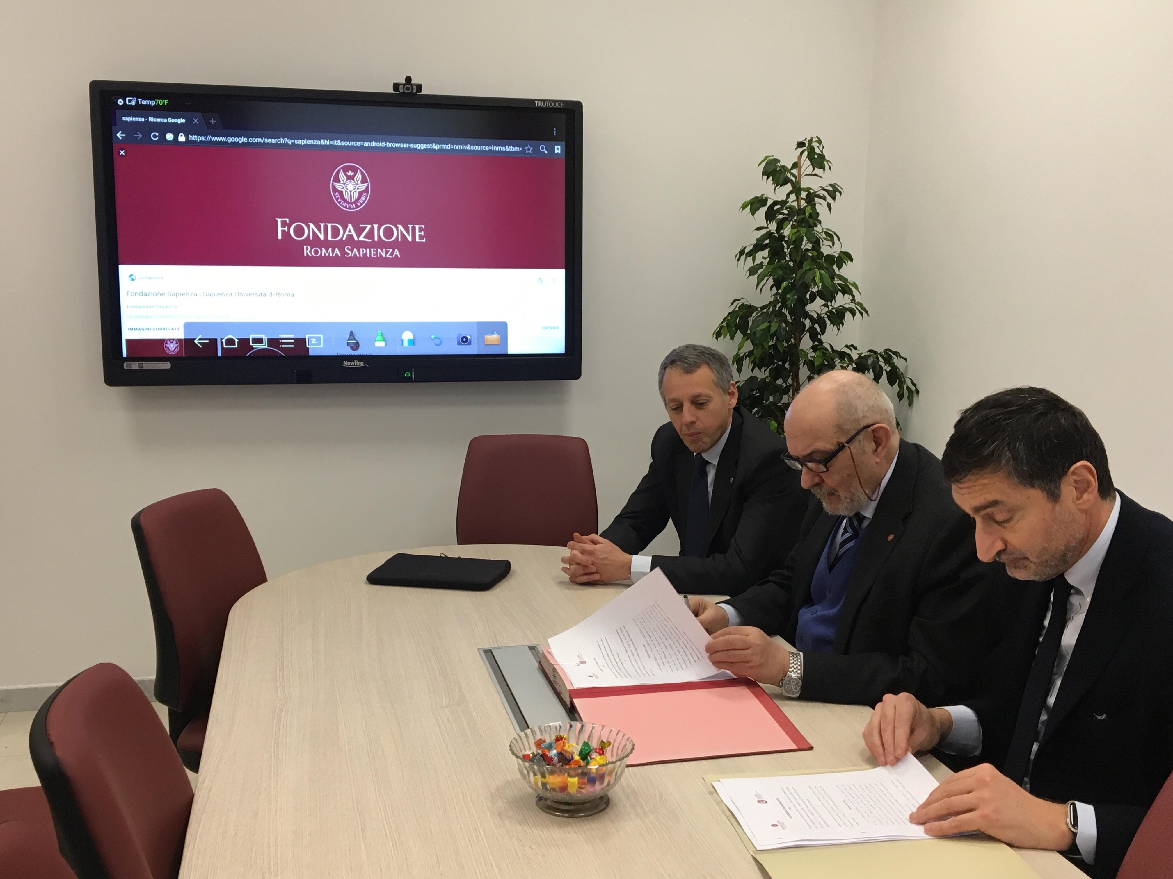 Siglato accordo tra la Fondazione Roma Sapienza e l'Associazione Alumni Laureati in Economia
